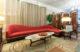 Red Mid Century Modern Sofa