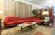 Red Mid Century Modern Kagan Sofa