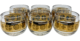 A vintage Culver set of roly-poly whiskey/cognac glasses, circa 1960s.
